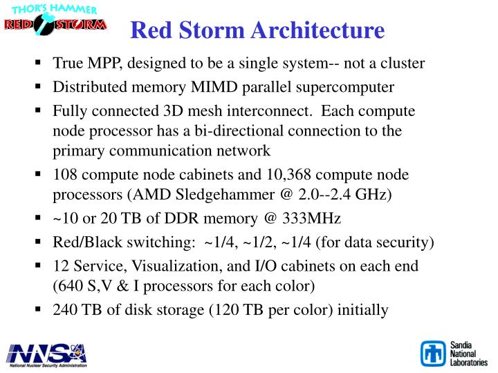 Red Storm Architecture