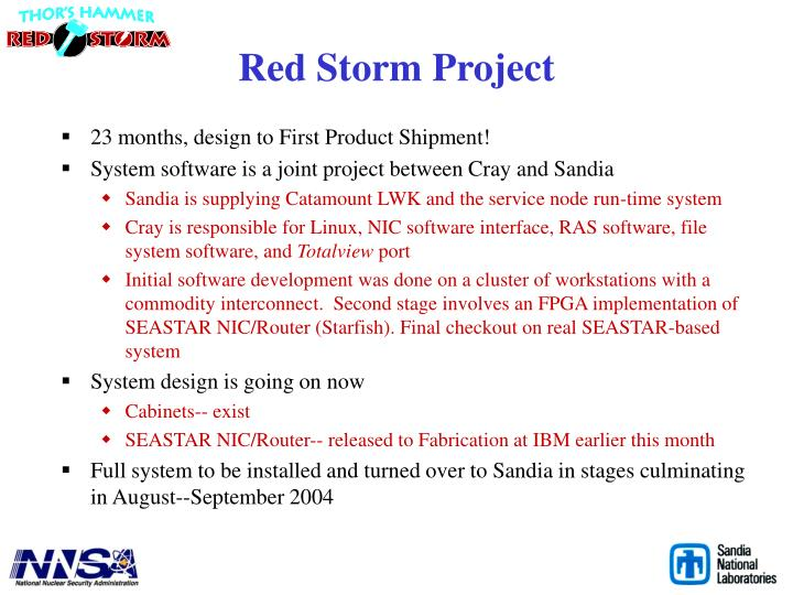 Red Storm Project