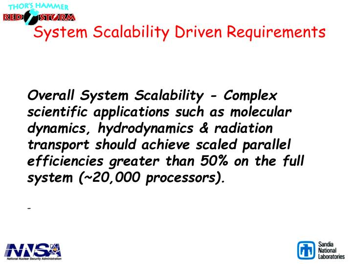 System Scalability Driven Requirements