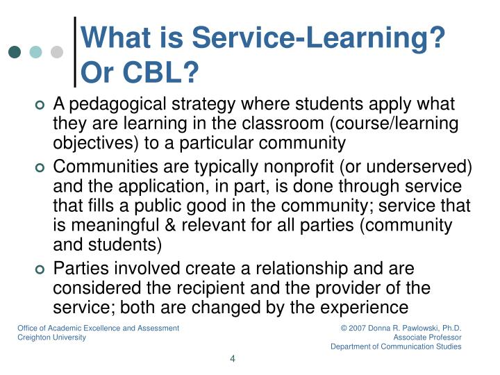 What is Service-Learning? Or CBL?
