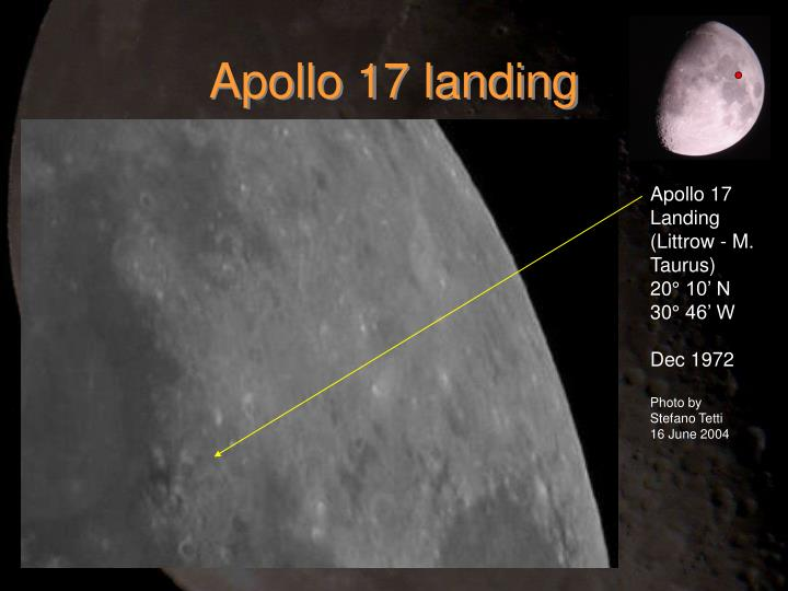 Apollo 17 landing