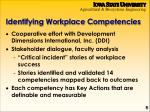 identifying workplace competencies