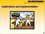 implications and implementation
