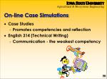 on line case simulations