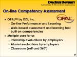 on line competency assessment