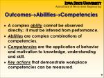 outcomes abilities competencies