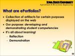 what are eportfolios