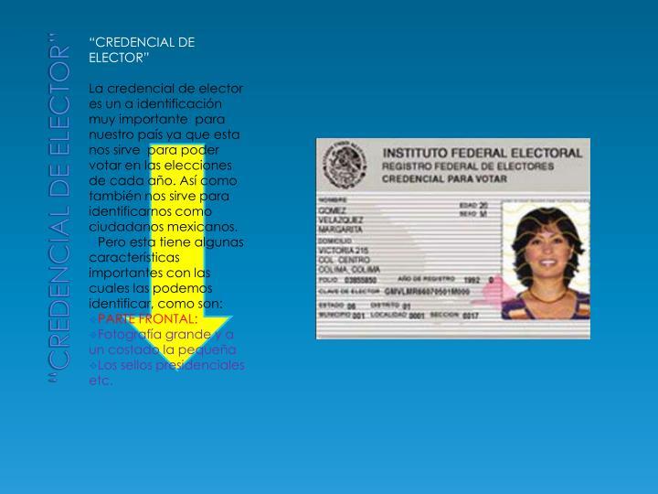 """""""Credencial de elector"""""""