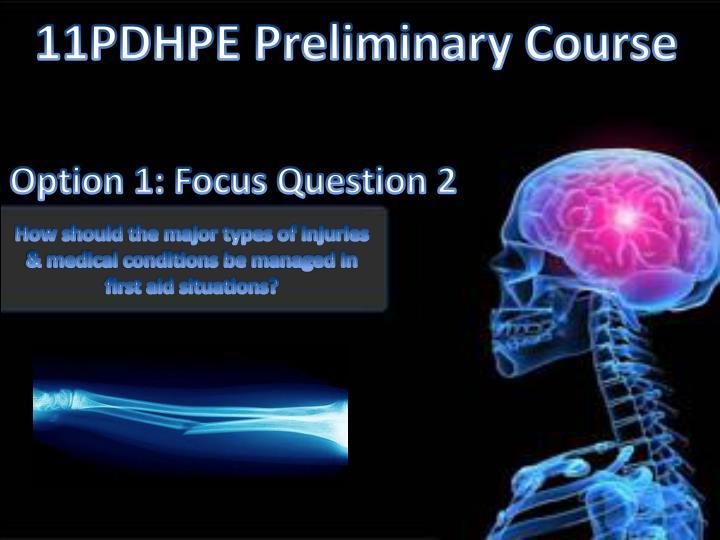 11PDHPE Preliminary Course