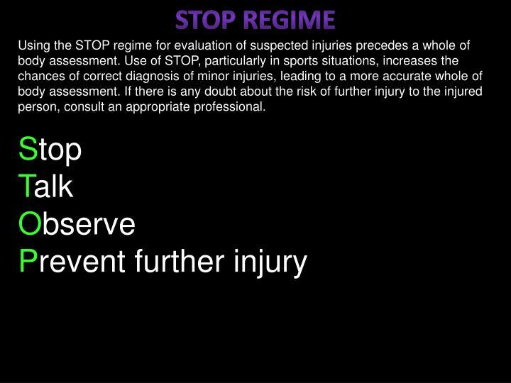 STOP REGIME