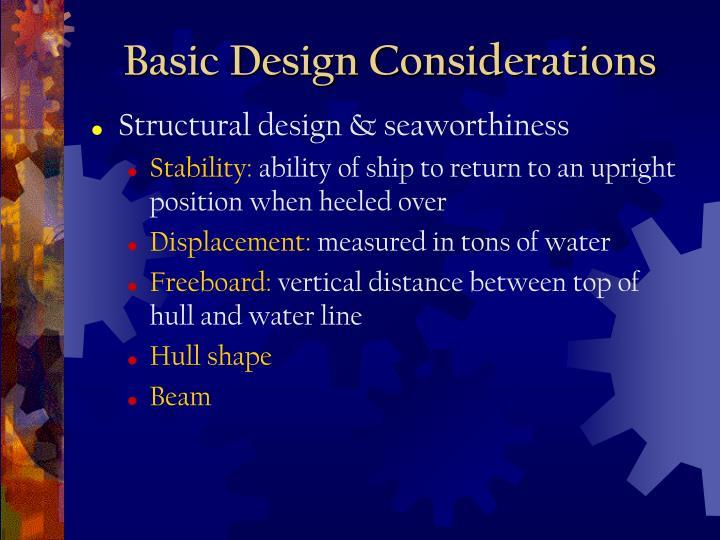Basic Design Considerations