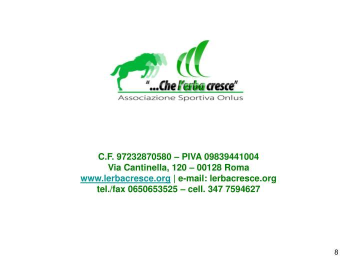 C.F. 97232870580 – PIVA 09839441004