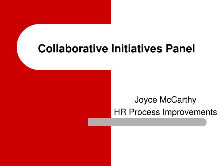 Collaborative initiatives panel