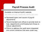 payroll process audit