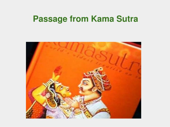 Passage from Kama Sutra