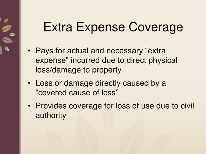 Extra Expense Coverage