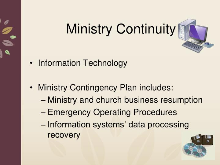 Ministry Continuity