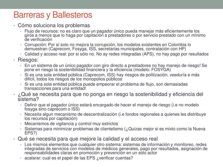 Barreras y Ballesteros