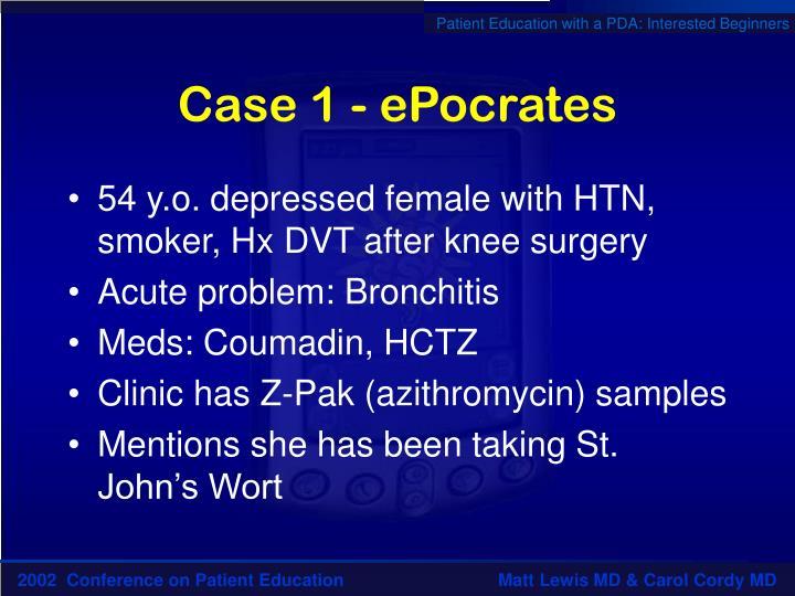 Case 1 - ePocrates