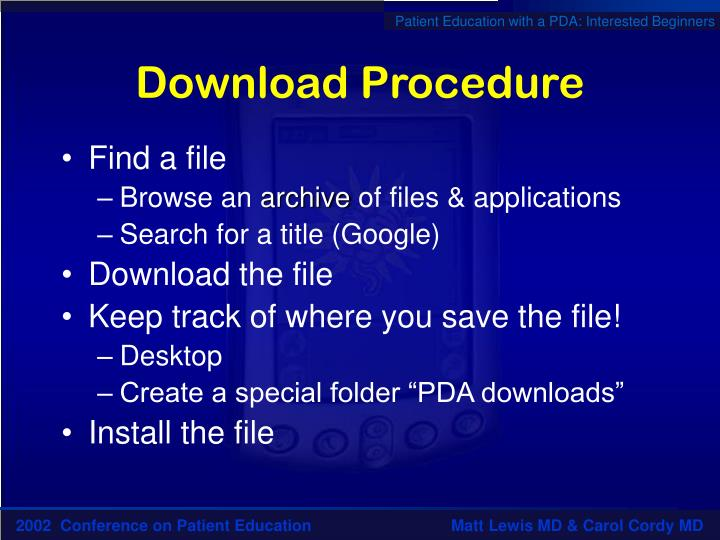 Download Procedure