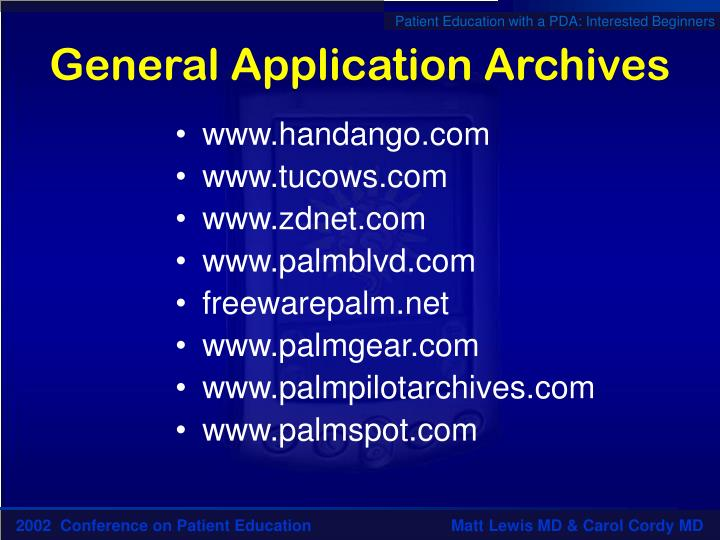 General Application Archives