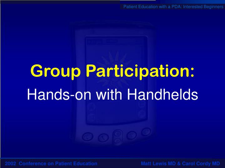 Group Participation: