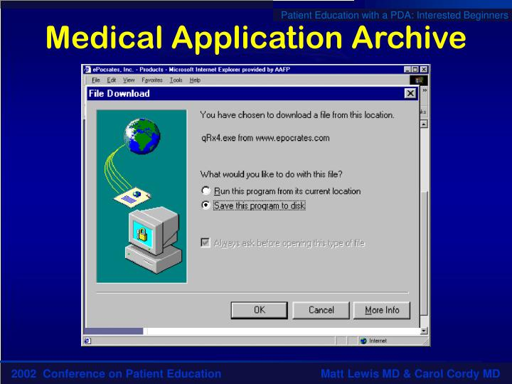 Medical Application Archive