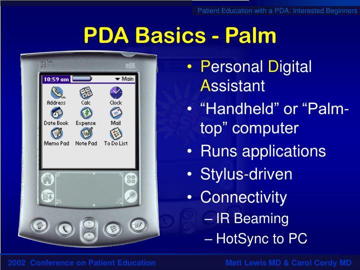 PDA Basics - Palm
