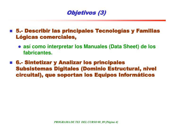 Objetivos (3)