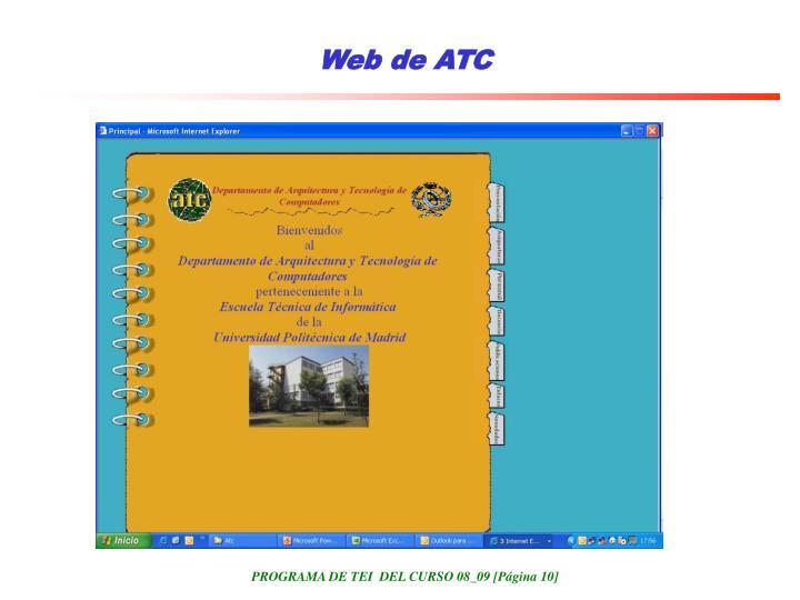 Web de ATC
