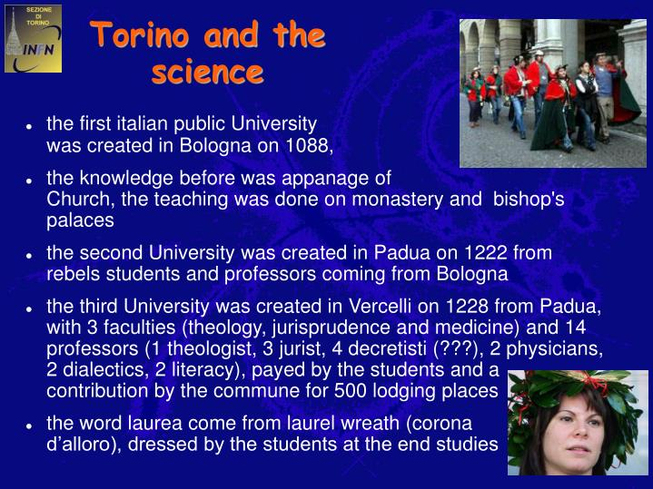 Torino and the science