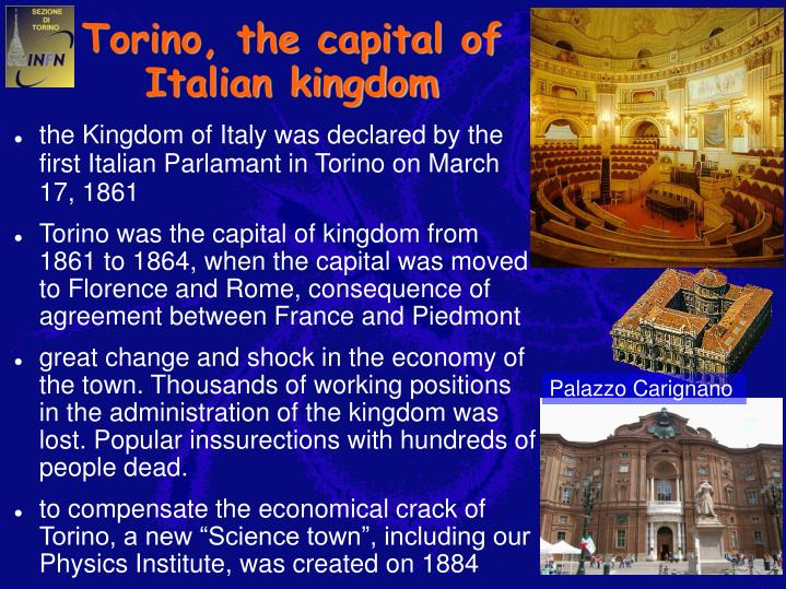Torino, the capital of Italian kingdom