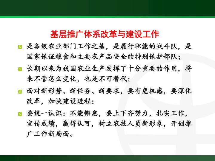 基层推广体系改革与建设工作