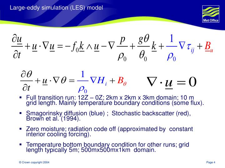 Large-eddy simulation (LES) model