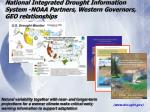 national integrated drought information system noaa partners western governors geo relationships