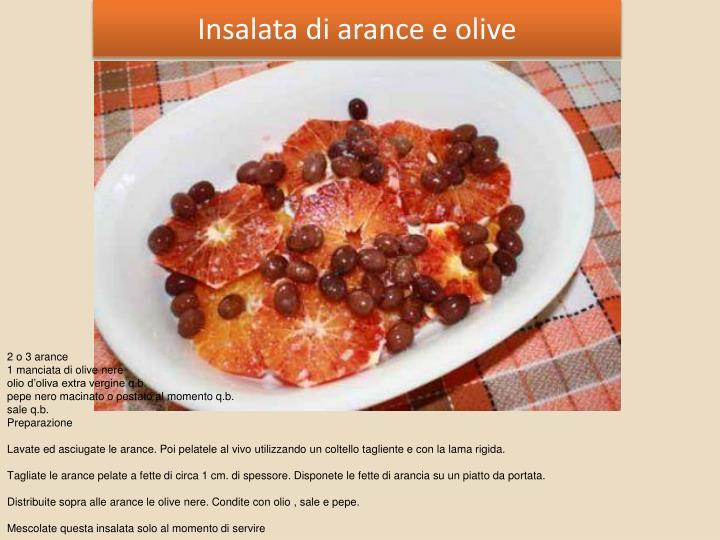 Insalata di arance e olive