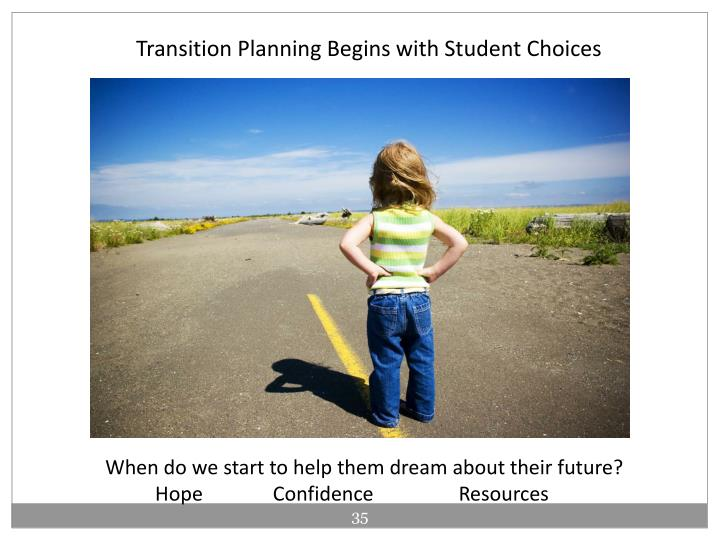 Transition Planning Begins with Student Choices