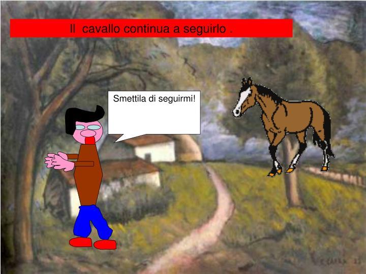 Il  cavallo continua a seguirlo .
