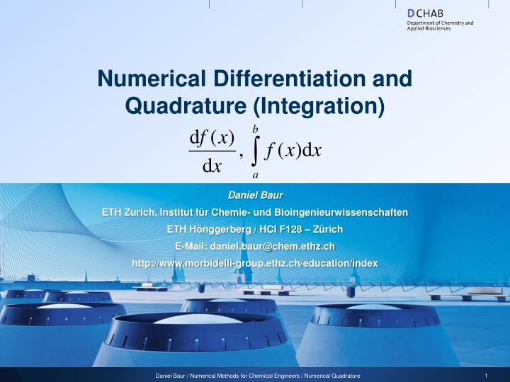 Numerical Differentiation and