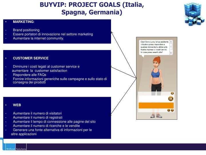 BUYVIP: PROJECT GOALS (Italia,