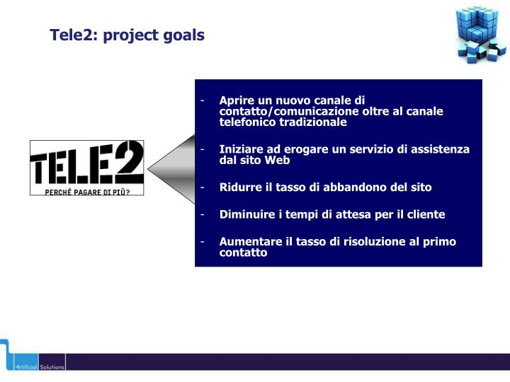 Tele2: project goals