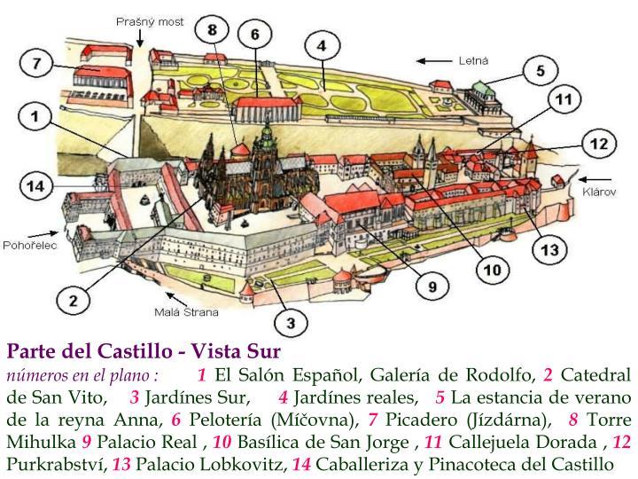 Parte del Castillo - Vista Sur