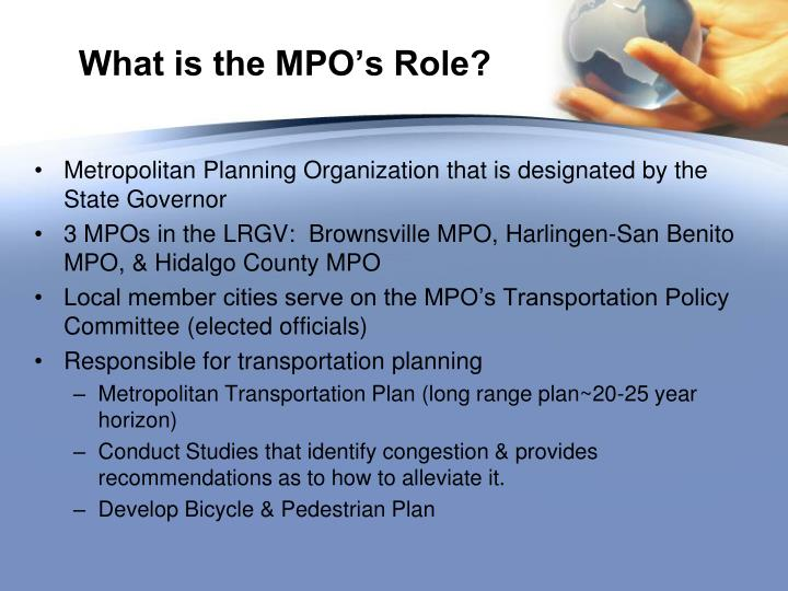 What is the mpo s role