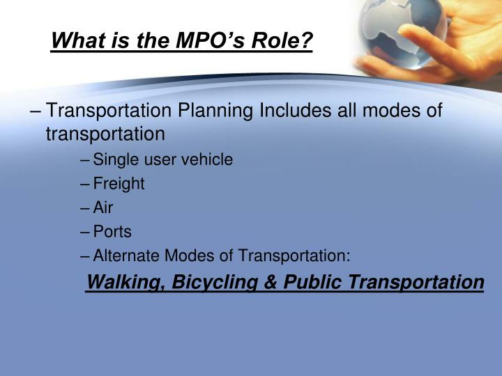 What is the mpo s role1