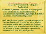 servizio centrale acquisti sistemi di e procurement sviluppi e procurement e acquisti sostenibili