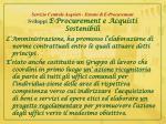 servizio centrale acquisti sistemi di e procurement sviluppi e procurement e acquisti sostenibili1