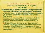 servizio centrale acquisti sistemi di e procurement sviluppi e procurement e acquisti sostenibili2