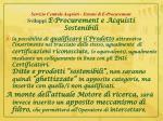 servizio centrale acquisti sistemi di e procurement sviluppi e procurement e acquisti sostenibili3