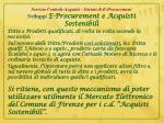 servizio centrale acquisti sistemi di e procurement sviluppi e procurement e acquisti sostenibili4
