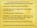 servizio centrale acquisti sistemi di e procurement vantaggi del mercato elettronico per le aziende